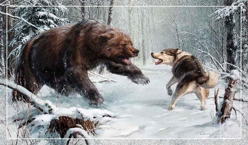 На землю падал пушистый снег и, уходя в тайгу, Брал на охоту с собой